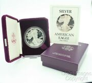1988-s American Silver Eagle Proof / Ogp Nice Box And Cert / No Stickers Or Ink