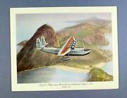 Pan Am First Class Airline Menu Sikorsky S-42 Flying Boat Brazilian Clipper Rio