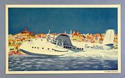 Imperial Airways Canopus Short Empire Flying Boat Airline Issue Airmail Postcard