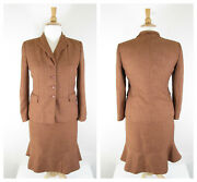Collections For Le Suit Plus Size Rust Orange Brown Skirt Suit Size 14 Career
