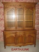 Ethan Allen Legacy China Cabinet Carved Wood Beveled Glass Lighted 13 6328