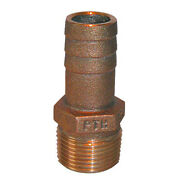Groco 1-1/2 Npt X 1-1/2 Id Bronze Pipe To Hose Straight Fitting