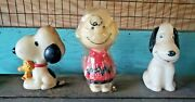 Vintage Snoopy And Charlie Brown Hallmark Candles With Extra Snoopy