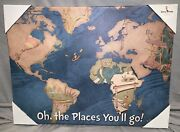 New Prints Oh The Places Youand039ll Go World Map 18x 24 Canvas Art Print