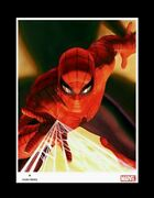 Marvel Iconic Comic Book Superhero Spider-man Fine Art Matted Lithograph Print