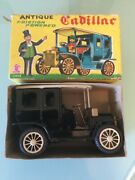 Sss International Antique Cadillac, Tin, Friction Driven Model In Box S-1300