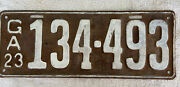 Good Solid Original 1923 Georgia License Plate. See My Other Plates