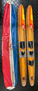 Cypress Gardens 67andrdquo Vintage Wood Water Skis Dick Pope Jr. Cabin Decor Man Cave