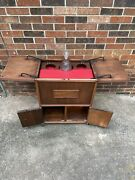 Antique/vintage Bar, Prohibition Hidden Bar With Decanter Storage And Humidor