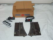 Boxed Lionel 112 Super O Pair Of Remote Switch Tracks W/controllers