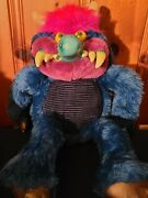 Vintage 1986 My Pet Monster Large 24 Toy No Cuffs Amtoy 80s Stuffed Animal