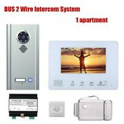 Bus 2 Wire Video Door Phone 7 Inch Intercom Systems For Home1/2/3/4 Apartments