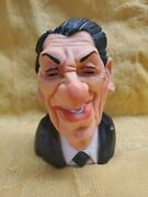 Ronald Reagan 1984 Spitting Image Rubber Caricature Head Bust Linden Squeeze Toy