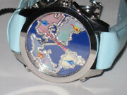 New Mens Jacob And Co. Jc 40mm World Is Yours Stainless Steel Diamonds