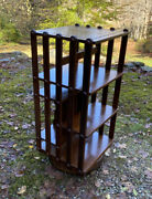 Antique Solid Walnut Rotating Bookcase Sargent Mfg Co Muskegon Mich And Ny 1883
