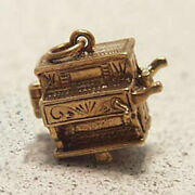 14k Gold Vintage Monkey In Organ Grinder Charm Opens With Monkey Inside Circus