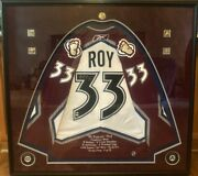 Limited Edition 9 Of 33 Autographed Patrick Roy Jersey Custom Framed Shadowbox