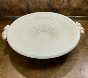Vintage Hand Sculpted Italian Pottery Large Centerpiece Bowl Mid Century