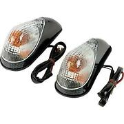 K And S Mini Wing Marker Lights Carbon/clear Lens - Dual Filament 25-8082