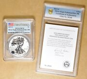 2019 S Enhanced Rev Proof American Eagle Silver Dollar And039first Strikeand039 Pcgs Pr70