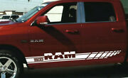 2pcs Side Stripes Racing Graphics Vinyl Decal Sticker Fit To Dod Ge R Am1500