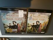 Miss Peregrineand039s Home For Peculiar Children 4k+ Blu-ray+rare Oop Slipcover.