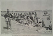 Frederic Remington Camp Eagle Pass Texas 1896 Harper's Weekly