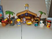 Fisher-price Little People Christmas Story Lights And Sounds Nativity Set Complete