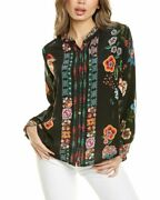 Johnny Was Pamela Silk Blouse Womenand039s