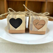 100x Vintage Love Heart Gift Boxes Sweets Favour Candy Box Wedding Party Supply