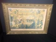 """Antique Vintage French Gilt Wood And Gesso Picture Painting Frame 21.5 """" X 15.5"""""""