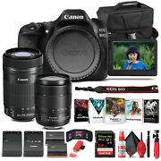 Canon Eos 80d Camera W/ 18-135mm Lens And Ef-s 55-250mm Lens - Basic Bundle