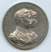Gx894 - Great Silver Medal For The Marriage Jubilee 1912 Wilhelm Ii. And Augusta