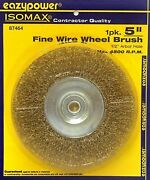 Qty.25 5 Fine Wire Wheel With 1/2-inch Arbor Free Shipping