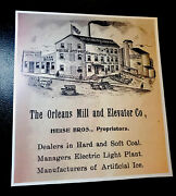 Orleans Mill And Elevator Co. Advertising Sign - Indiana - Orange County 11x12