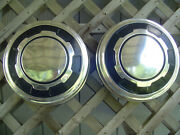 Vintage Ford 16 In Pickup Truck 4+4 Dog Dish Center Cap Hubcaps Wheel Covers 3/4