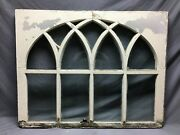 Antique Gothic Arched Window Sash Shabby 34x43 Vintage Chic Old 841-21b