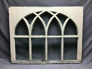 Antique Gothic Arched Window Sash Shabby 34x43 Vintage Chic Old 842-21b