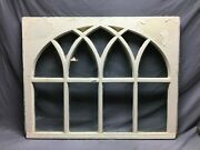 Antique Gothic Arched Window Sash Shabby 34x43 Vintage Chic Old 844-21b