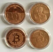 Lot Donald Trump The Best Is Yet To Come Bitcoin 1 Oz .999 Copper Round Coin