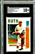 2019 Diamond Kings Babe Ruth Collection Holo Gold Babe Ruth Collection Sgc 10