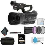 Jvc Gy-hm250 Uhd 4k Streaming Professional Video Camcorder Bundle + + Lcd Screen