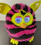 Furby Boom 2012 Pink With Black Stripes Interactive Toy By Hasbro