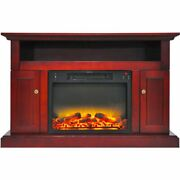 47.2x15.7x30.7 Sorrento Fireplace Mantel With Logs And Grate Insert