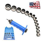 13 In 1 Hollow Punch Set Heavy Duty Gaskets Leather Rubber Hole Case Us Hot Sale