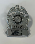 Security Officer Badge Vintage Indiana Security Officer Jeffersonville In