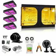 8800w 900 Led Beads Grow Light+carbon Filter+4'x4' Grow Tent Complete Kit
