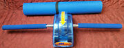 The Original Ab Slide W/ Longer Handles At Home Abs Work Out W/ Blue Yoga Mat