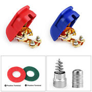 2x Battery Terminal Connector Clamp Quick Release Terminal Washers Cleaner Brush
