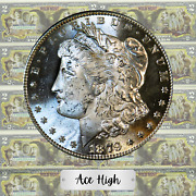 1879-s Best Ever Bu Aaa++++ Morgan Dollar Best Toning Ever Ace High Lm45
